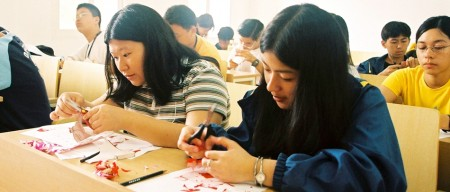 paper cutting in Chinese Summer Camp